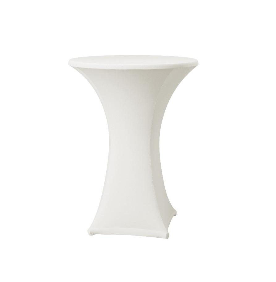 White lyrca spandex table hire 2